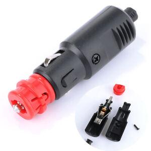 Auto-Car-12V-24V-Male-Cigarette-Lighter-Socket-Plug-Connector-W-20A-Fuse-LED