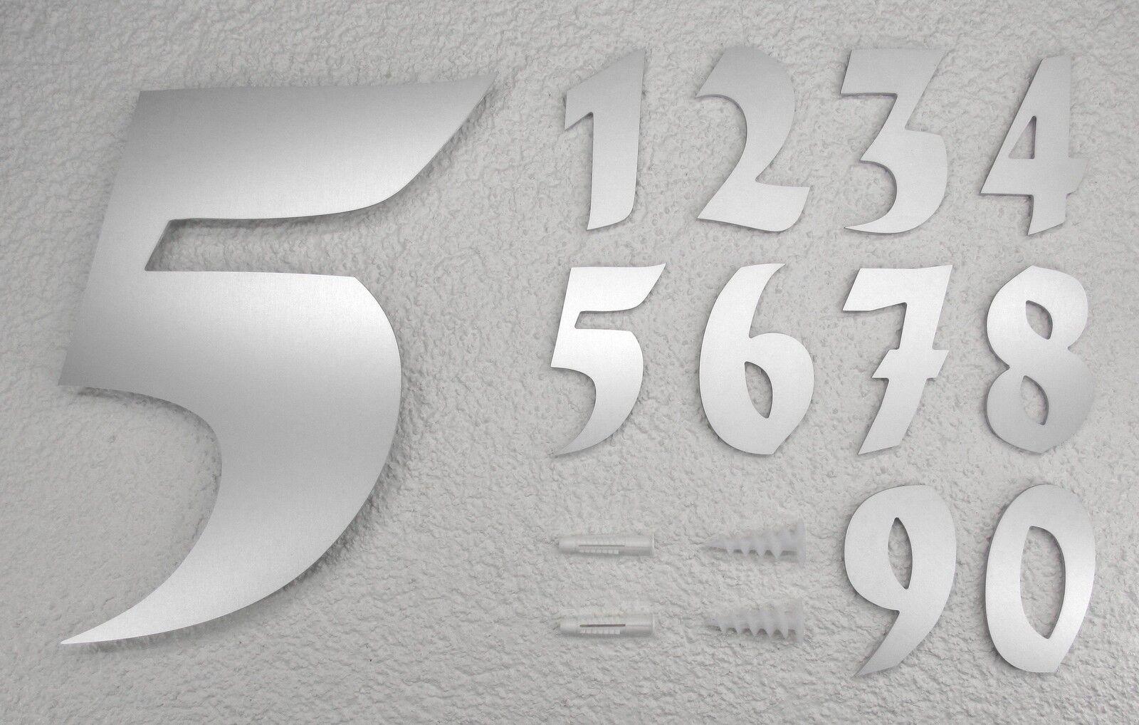 Hausnummer 30 cm hoch XXL unsichtbare Montage Zahl von 0-9 Schriftart Nr. 5 | Sonderpreis  | Elegante Form  | Spielen Sie das Beste