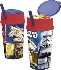 Star Wars 500ml Aluminium Bottle with Permanent Straw and Flip Out Dispenser