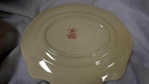JOHNSON BROTHERS ENGLISH CHIPPENDALE PINK ROSE 12 X 10 OVAL PLATTER