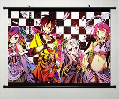 Home Decor Anime Japanese Poster Wall Scroll No Game No Life Kuhaku whole role