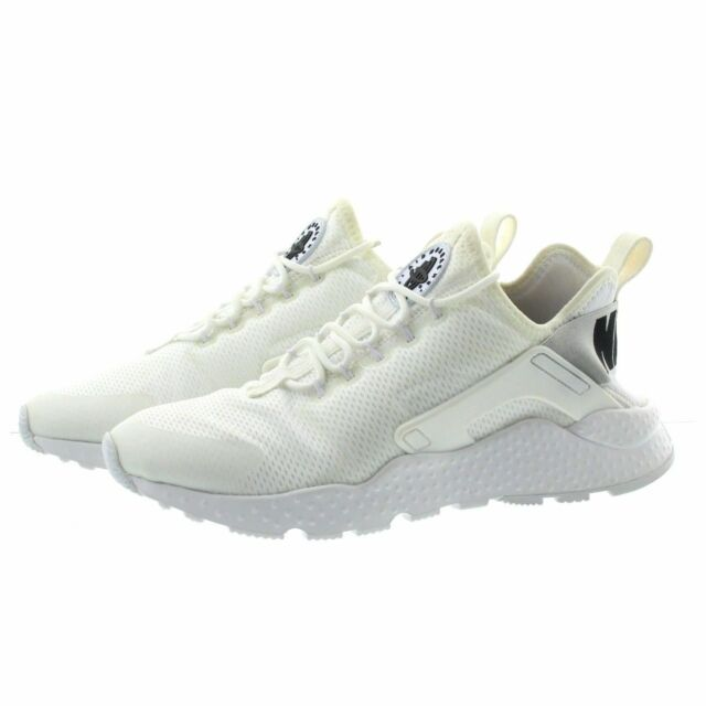 9694b31f3659c Nike Air Huarache Run Ultra Womens Running Shoes Size 9 White Black ...