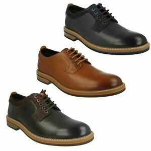 4d7e567bb PITNEY WALK MENS CLARKS LACE UP FORMAL OFFICE DERBY LEATHER SMART ...