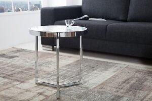 Designer tavolino da salotto tavolo di vetro ARGENTO CROMATO REPRO ...
