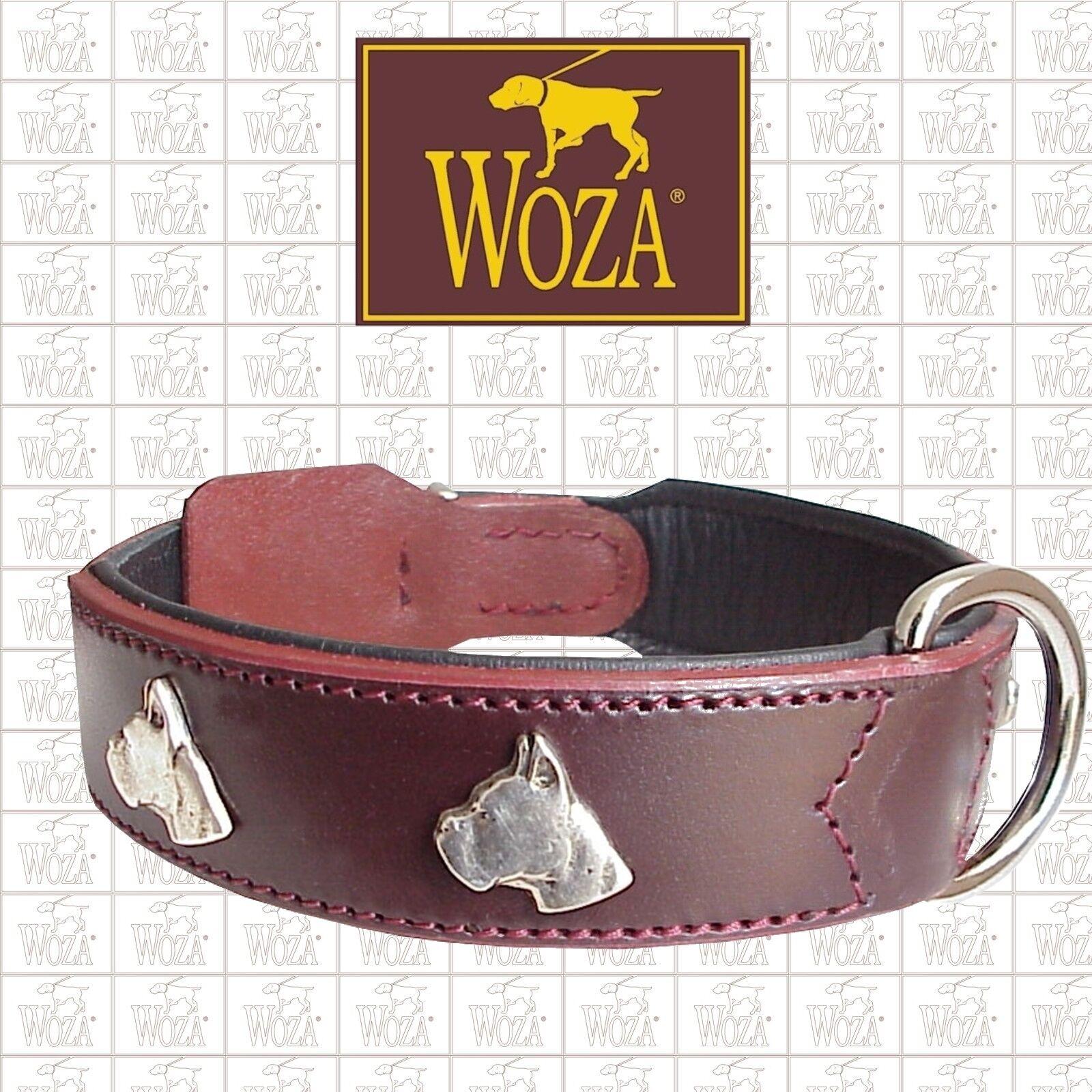Premium Hundehalsband Boxer WOZA Vollleder Soft Rindnappa Collar Collar Collar Handmade HG8274 1d9679