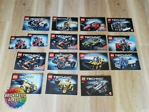 LEGO-X15-Bulk-Technics-Instruction-Books-Technics-9392-42023-42027