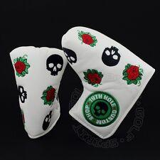 Skull Rose Head Cover for Ping Anser Shea 1/2 Wach-E/Craz-E Blade Midsize Mallet