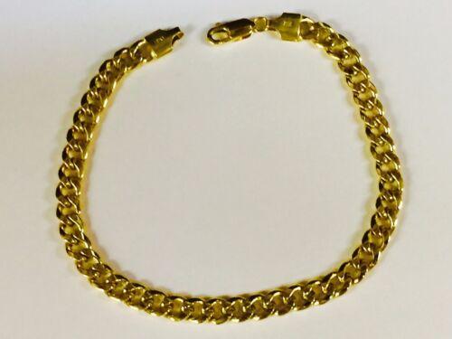 "10k Yellow Gold Miami Cuban Curb Link 7/"" 5.3 mm 5.5 grams Bracelet 150HMC"