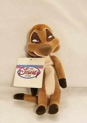 The Disney Store The Lion King Meerkat Timon Mini Bean Bag-Beanie