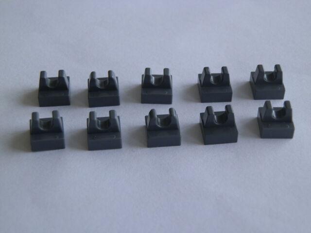 Lego 2555 # 10x Platte 1x1 mit Clip grau neu dunkelgrau 10937 75054