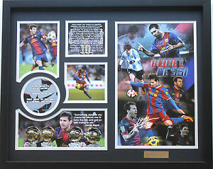 New Lionel Messi Signed FC Barcelona Limited Edition Memorabilia