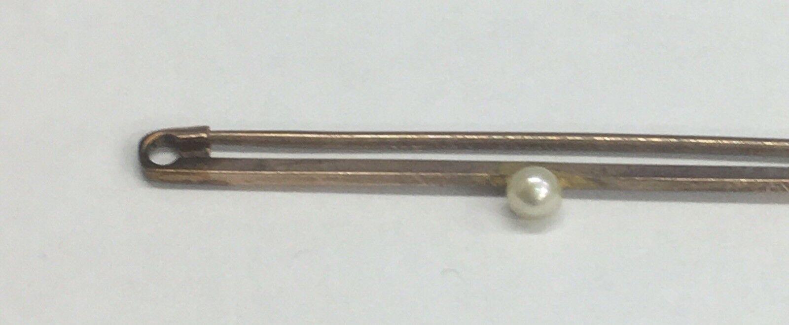 VINTAGE 9ct 9ct 9ct oro Pin Spilla con Perle 1.6 GRAMMI 132444