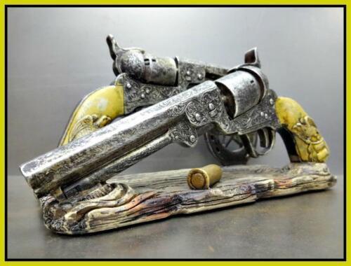 Western Rustic Cowboy Six Shooter Gun Pistol ENVELOPE NAPKIN Holder Decor Gift