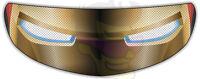 Iron Man Helmet Visor Sticker Motorcycle Superhero Shield Decal Tint Eyes