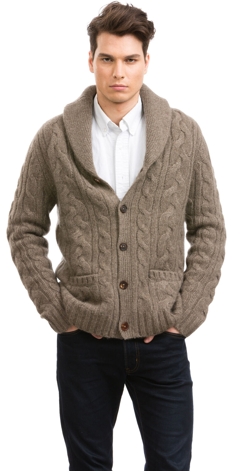 Shawl Collar Sweater for Men by Citizen Cashmere (NEW)