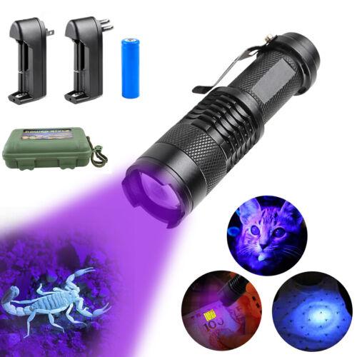 Zoomable LED UV Flashlight UV Light L2//T6 White Light LED Torch Light 5 Modes