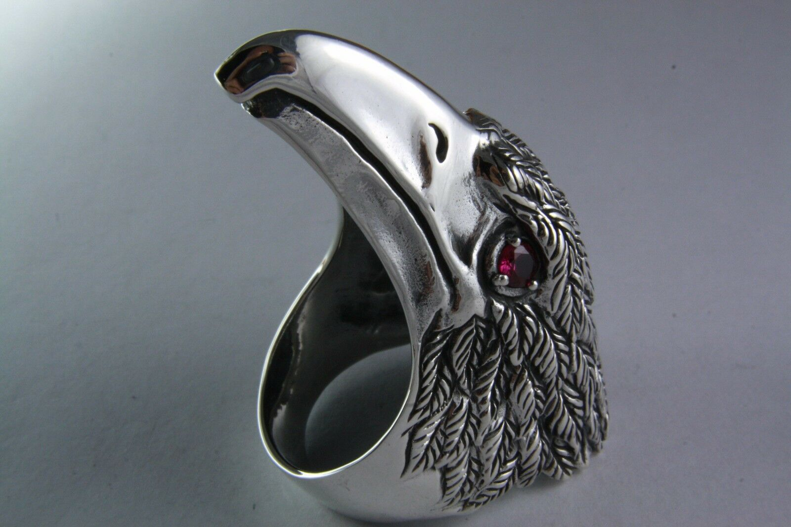 ADLER RING EAGLE MOTORRAD BIKER CHOPPER silverRING 925 silver   421