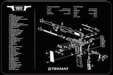 """1911 COLT GOVERNMENT .45 ARMOURER GUN CLEANING NEOPRENE BENCH MAT 11x17"""" TEKMAT"""