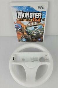 Monster-4X4-Stunt-Racer-With-Wheel-WII-Nintendo-Complete