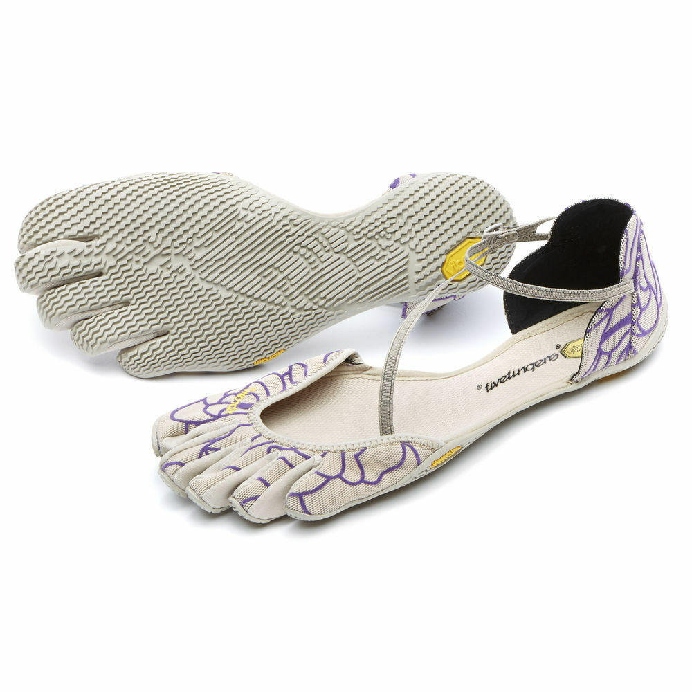 Vibram FiveFingers VI-S Beige Royal Purple Women'S sizes 36-42 NEW