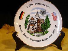 Collector Plate Wanderung 1979 Deutsch~Amerik. Wanderclub Schmeinfurt