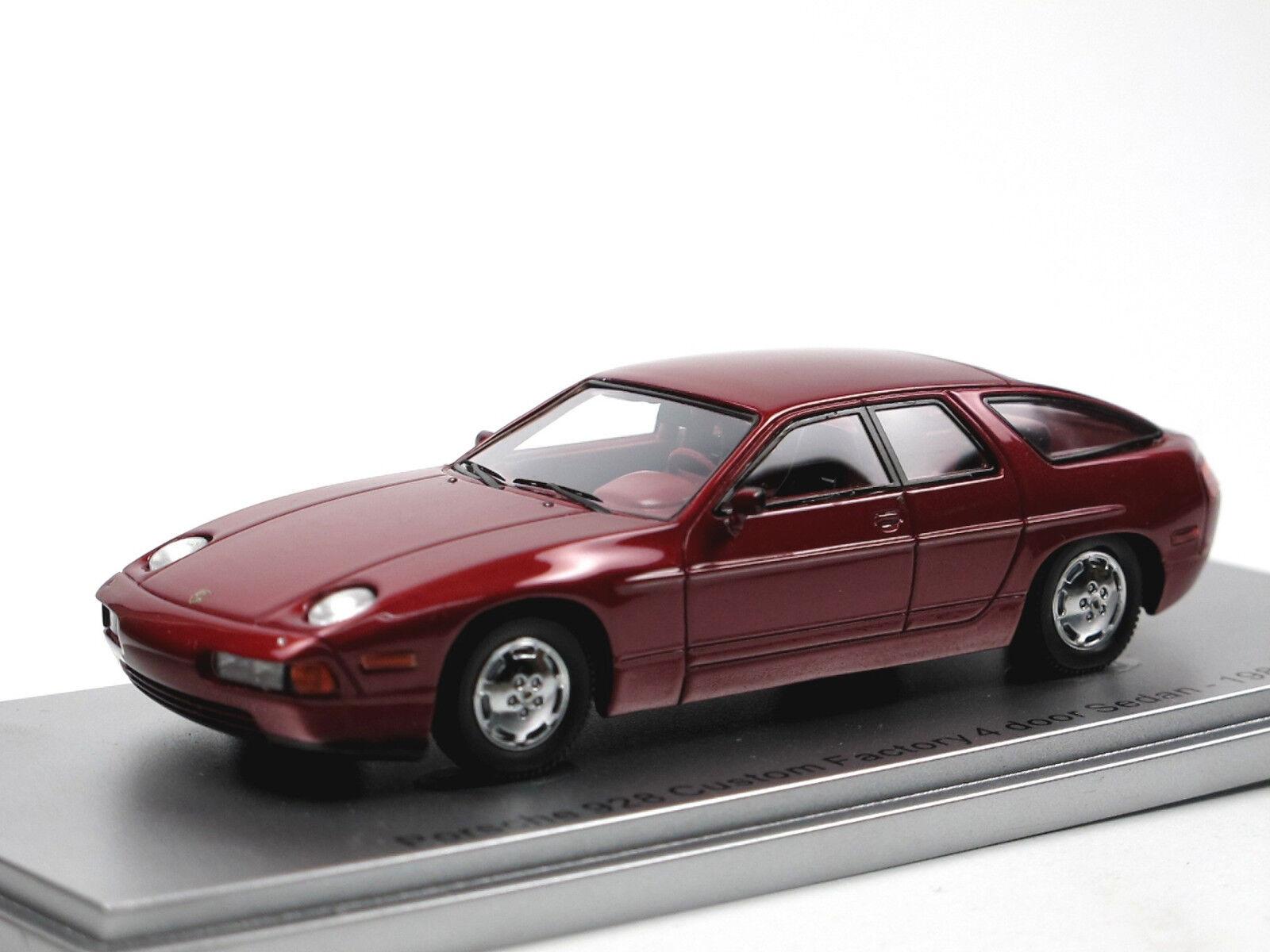 Kess scale models 1986 Porsche Porsche Porsche 928 4-door Projootype púrpura metalizado 1 43 34ca87