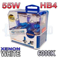 Xenon White HB4 55w Halogen Fog Light Healight Bulbs 6000k (PAIR) 9006