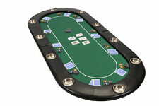 Riverboat Folding Poker Table Top in Green Speed Cloth 200cm (B Grade)
