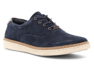 Hawke & Co Men's Jacob Perforated Suede - Sneakers - Navy Blue - Suede Size 12 a24289