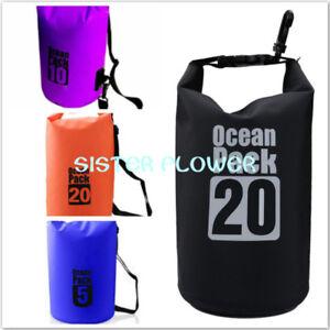 Waterproof-Storage-Dry-Sack-Bag-Boating-Storage-Pack-Winter-Outdoor-5-10-20