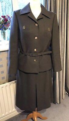 Costruttivo Lovely Vintage Marrone Tailleur Gonna Di Lana Taglia S-mostra Il Titolo Originale Risparmia Il 50-70%