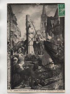 Jeanne-d-039-Arc-quemado-a-Postal-Rouen-en-1431-par-J-e-Lenepveu-J1674