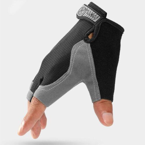 1Pair Bike Sport Cycling Half Finger Gloves Men Women Tennager Fishing Outdoor