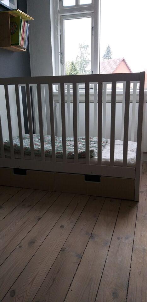 Tremmeseng, Hvid tremmeseng fra IKEA, b: 60 l: 120