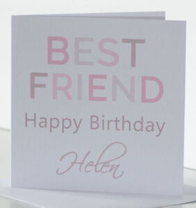 Image Is Loading Personalised Best Friend Birthday Card For A Female