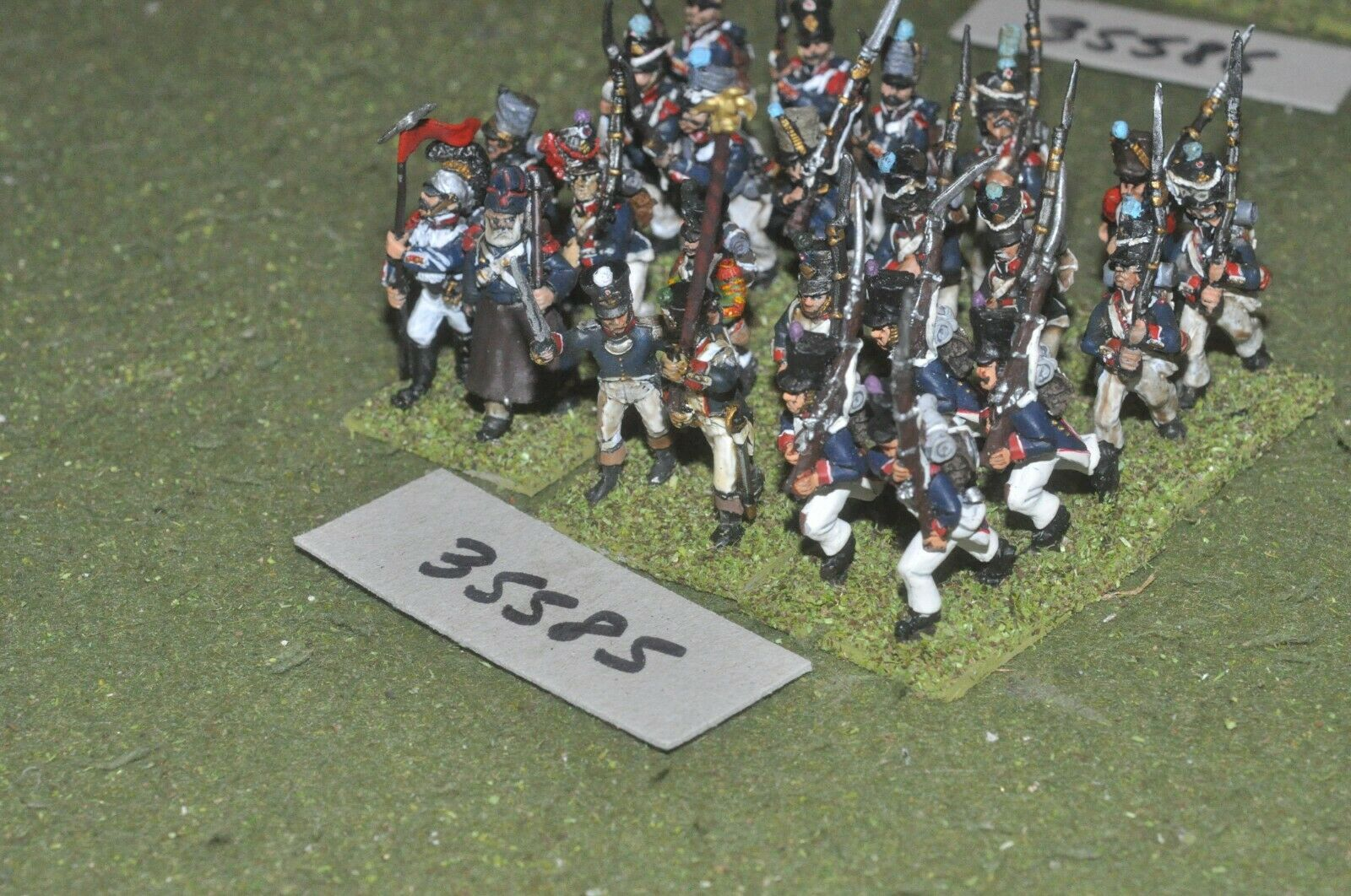 25mm napoleonic   french - regiment 24 figures - inf (35585)