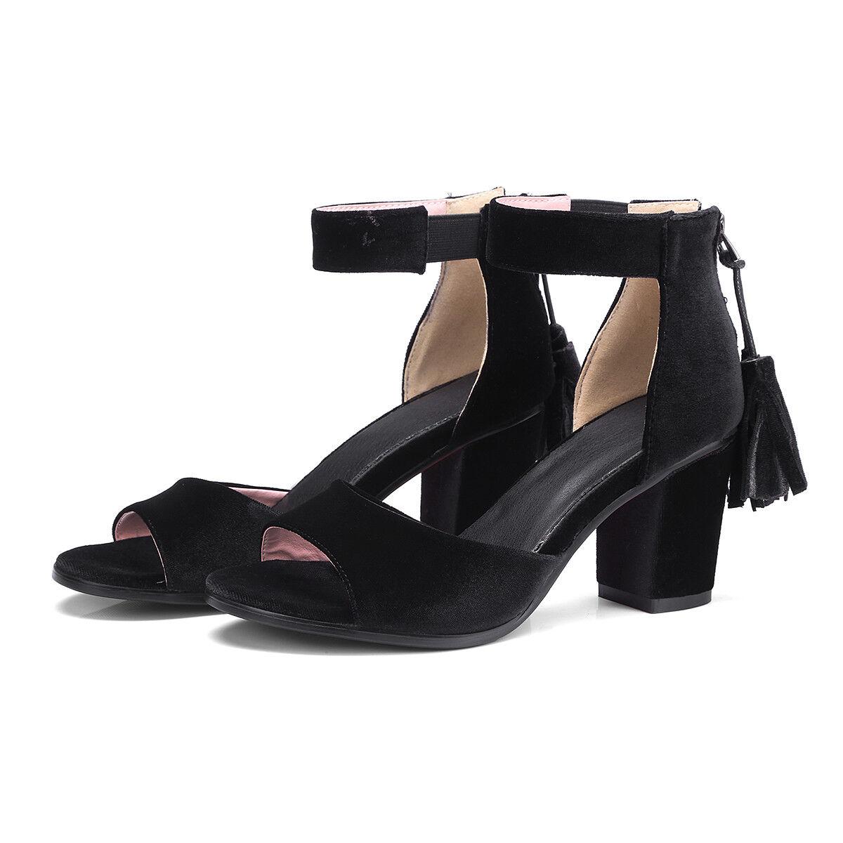 Mehrfarbig Damen Schuhe Sandalen Sommer Gr:33-43 Pumps Faux-wildleder High heels Gr:33-43 Sommer 8b115d