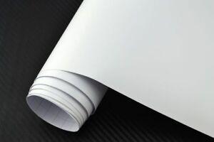 6-25-m-Auto-Folie-Weiss-Matt-100-x-152-cm-3D-Klebefolie-Car-Wrapping