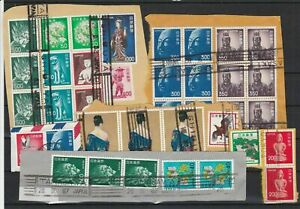 Super Selection of  Japan Stamps + Cancels on Paper Ref 32590