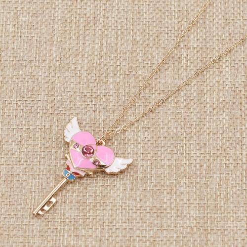 Lovely Sailor Moon Collier Clé Forme Pendentif Japon Anime Bijoux Accessoire