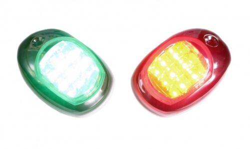 LED Seitenlaterne Set Positionslicht Steuerbordleuchte Backbordleuchte NEU 4092