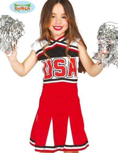 Childs Cheerleader Fancy Dress Costume Kids Girls Cheer Leader Outfit New fg