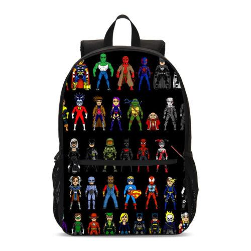 Marvel Avengers Boys Kids Backpack Set School Bag Shoulder Bag Pen Case Lot
