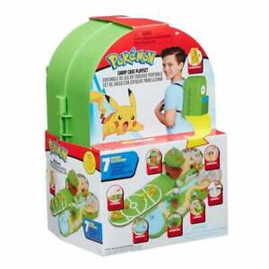 Pokemon Ash's Backpack Carry Case Playset inc Battle Arena with Launch Pads