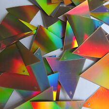 Sequin Triangle 30mm Gold Lazersheen Reflective Metallic. Made in USA
