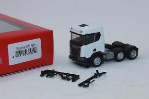 Herpa-309028-scania-CR-XT-baja-techo-construccion-tractor-3-alineacion-1-87-h0-nuevo-en-OVP