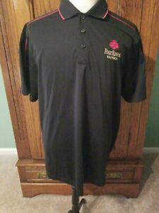 Four Roses Bourbon Sport-Tek Polo Golf Shirt Black Stitched Logo XL Extra Large | eBay