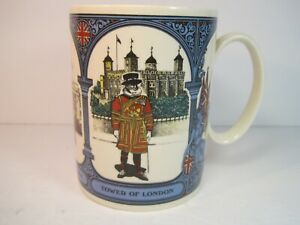 Vintage-Wedgwood-of-Etruria-amp-Barlaston-London-Scenes-Large-Coffee-Mug