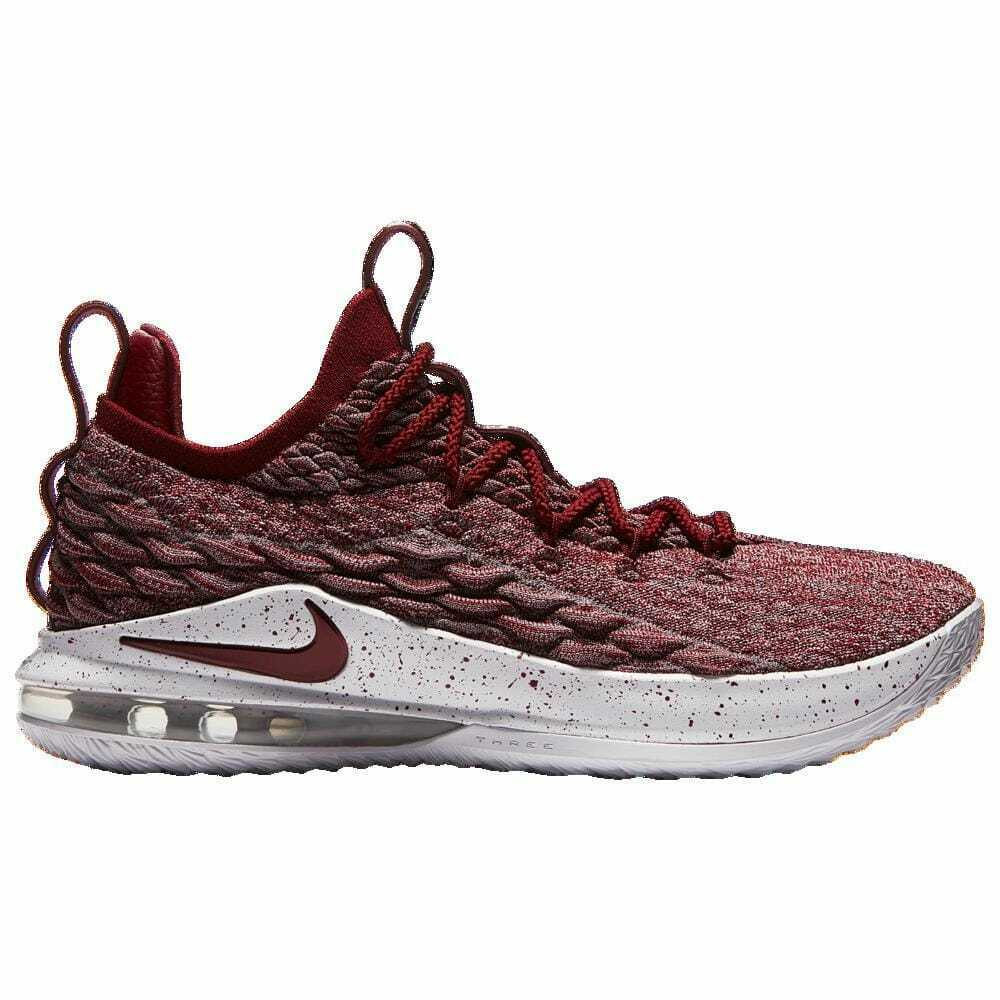 Nike LeBron 15 Low Taupe Grey Team Red Vast Grey Men's 01755200