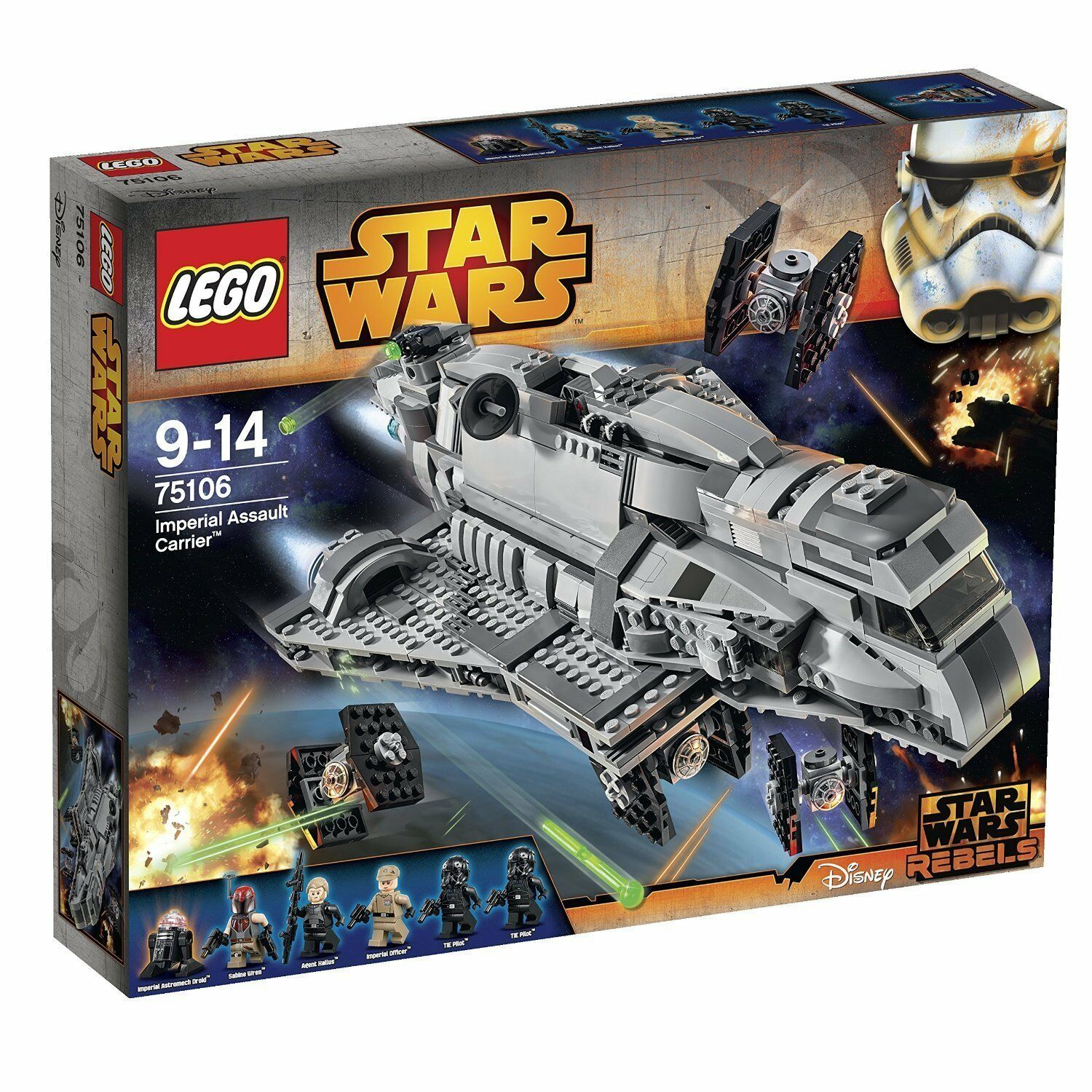 Lego ® Estrella Wars ™ 75106 imperial Assault Cocherier ™ nuevo New OVP misb